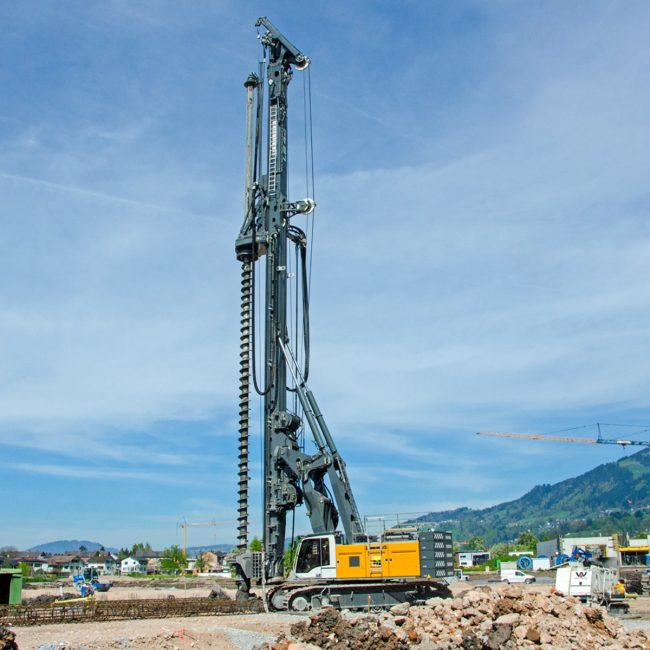 liebherr-lb-44-rotary-drilling-rig-CFA-continuous-flight-auger-drilling